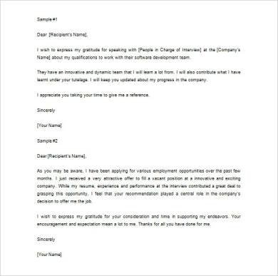thank you for job recommendation letter sample1