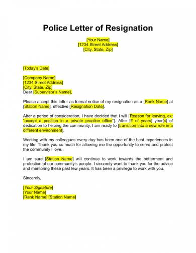 free 17 free resignation letter pdf doc examples police officer resignation letter samples