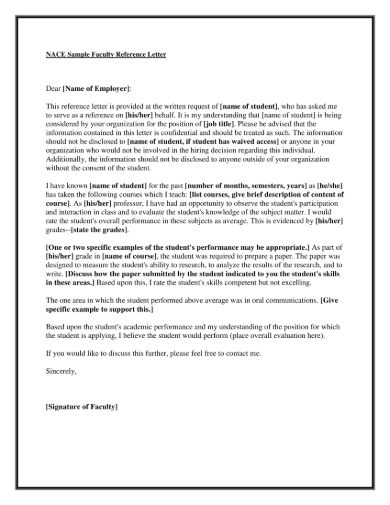 Letter Of Recommendation For A Job Position from images.sampleforms.com