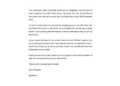 simple resignation letter samples captivating sample format for personal reasons job handover template timeline templates google report speciali converted pdf