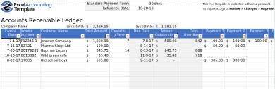 accounts receivable ledger form sample template