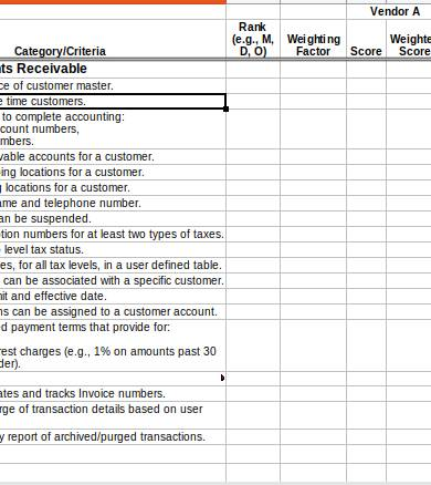 accounts receivable ledger form template
