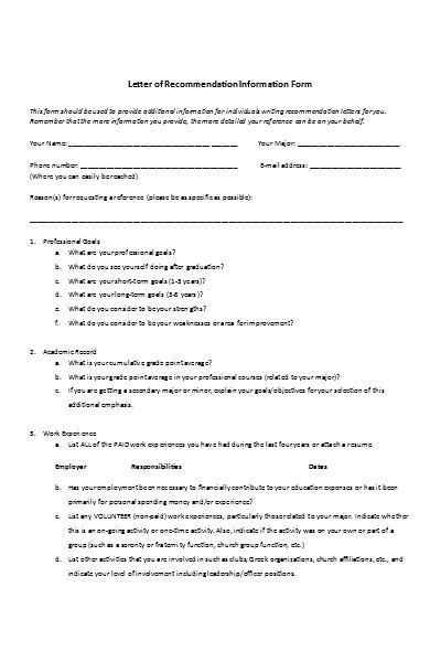 basic job recommendation letter