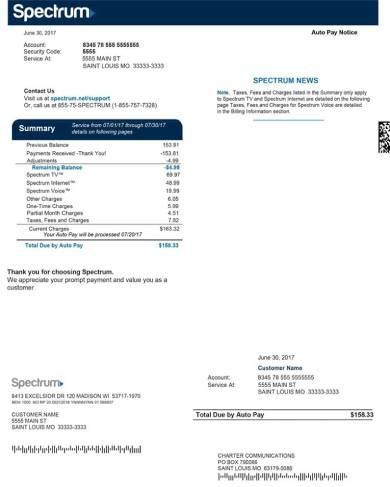 cable tv customer bill pay form