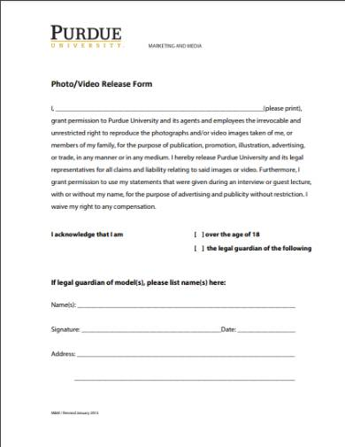 college media liability release form