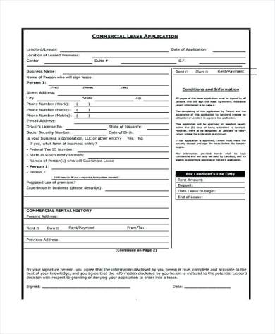 commercial leasing application form