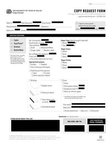 copy request form sample