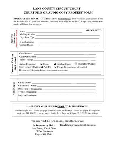 court file and audio copy request form