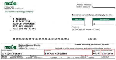 customer eletcricity bill pay form