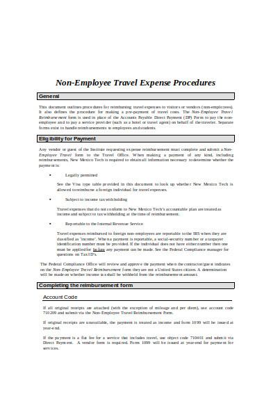 employee benefits travel expense