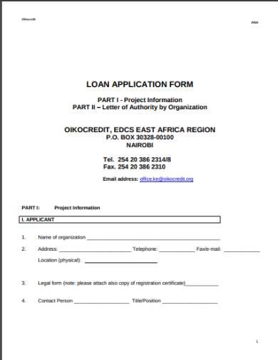 fillable loan application form