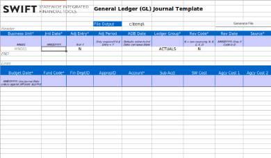 general ledger journal form template