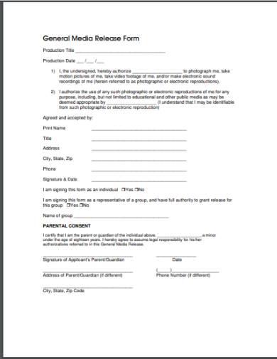 general media release form