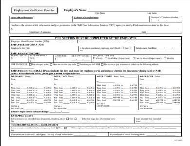 housing authority employment verification form