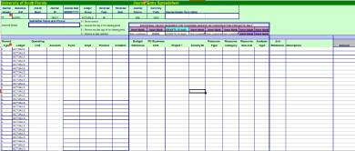 journal entry format spreadsheet form