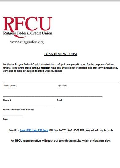 loan application review authorization form