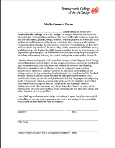 media liability release and consent form