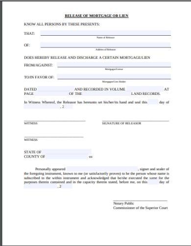 real estate lien release form