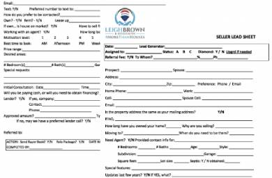 real estate seller lead form