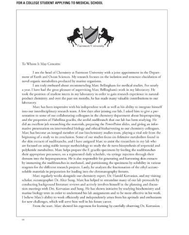 recommendation letter for medical school application