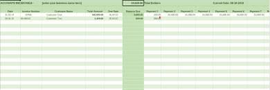 sample accounts receivable ledger form template
