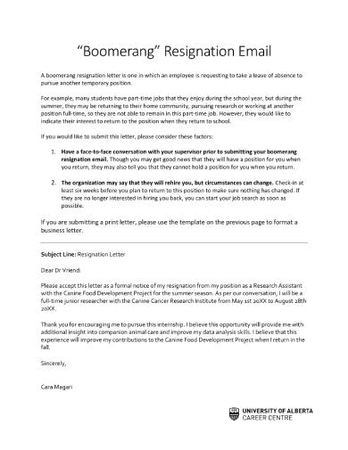 sample resignation letter 2 1