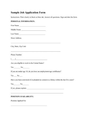 samplejobapplicationform 1 1