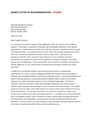writing letters of recommendation 2 1