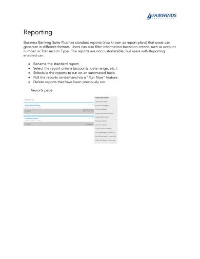 reporting 1 1