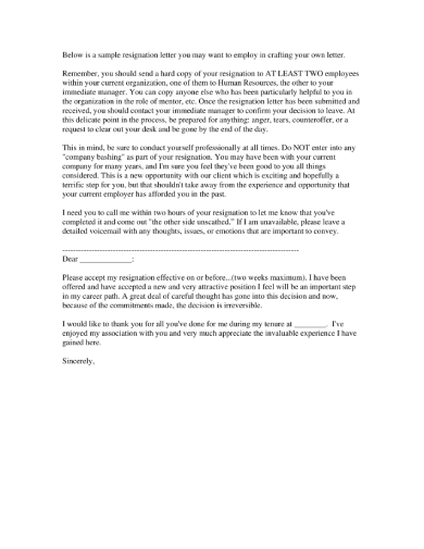 Resignation Letter Due To Job Dissatisfaction from images.sampleforms.com