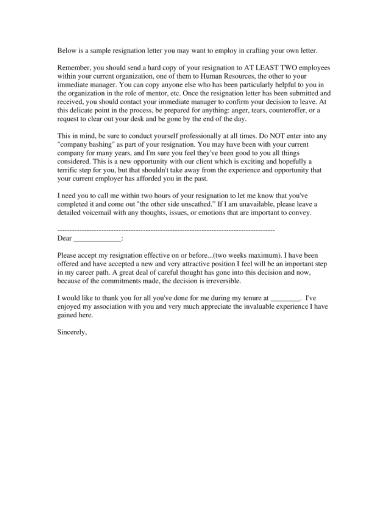 resignation 1 1