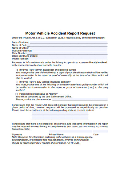 accident report request form