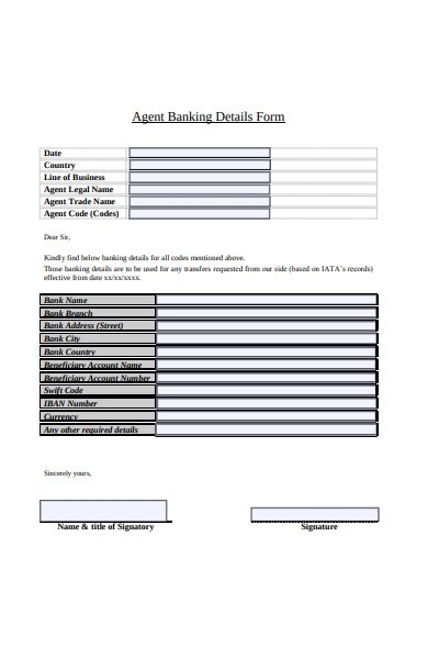 agent banking form