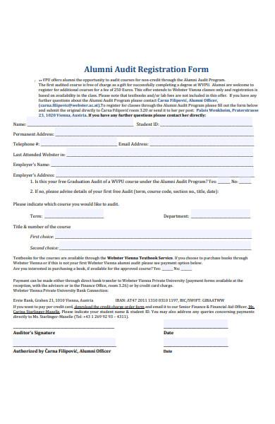 alumni division registration form