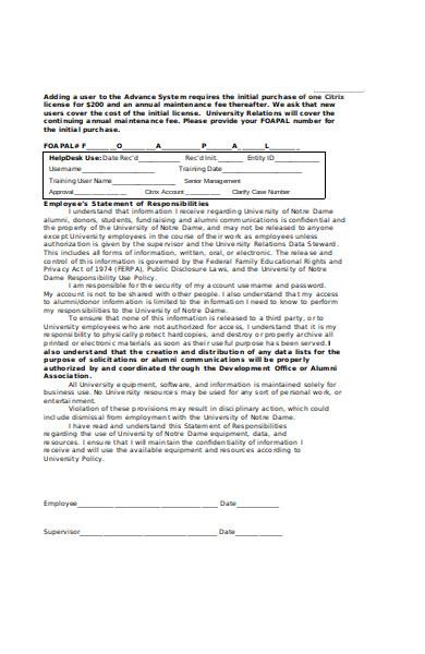 alumni information access form
