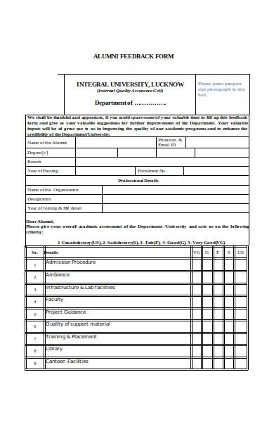 alumni project form