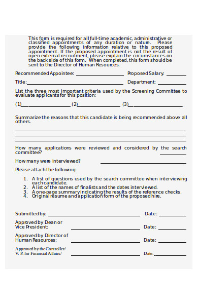 appointment proposal form