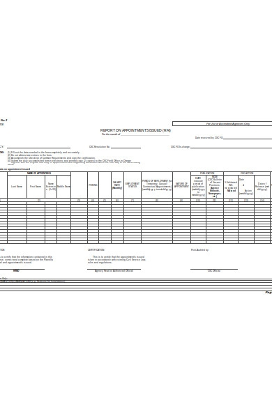 appointment transmittal form
