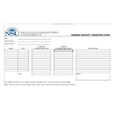 banner budget transfer form1