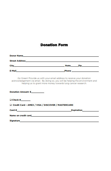 basic donation form