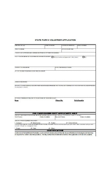 basic volunteer application form1