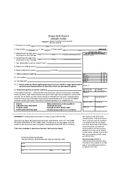 birth record order form in pdf