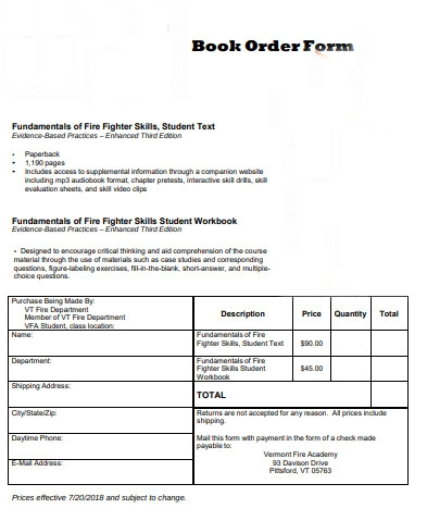 book purchase order form