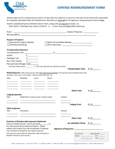 chia expense reimbursement form 1 1