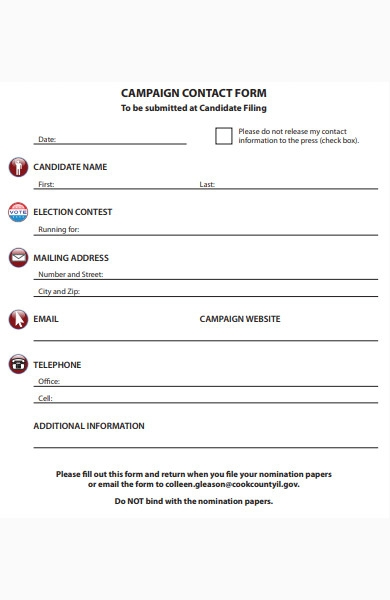 campaign contact form