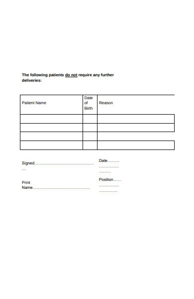 care home delivery order form