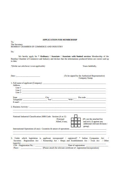 chamber membership form