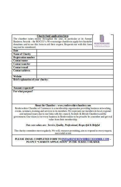 charity fund form