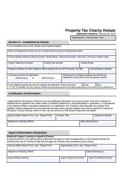 charity rebate form