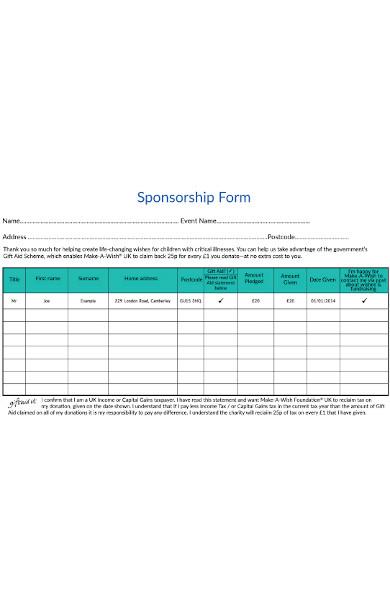 children sponsorship form